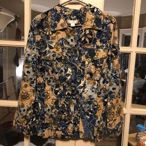 CJ Banks floral corduroy jacket